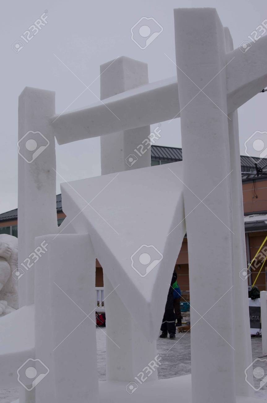 Breckenridge, Colorado  01/26/2013- Ice Sculpture Competition Star Germany Stock Photo - 17838377