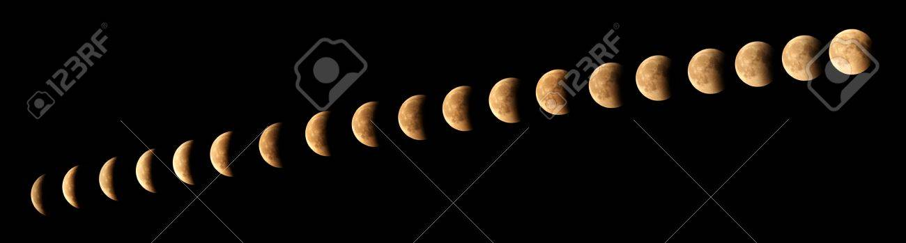 The cycle of moon eclipse phases Stock Photo - 19720930