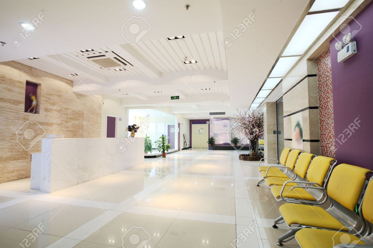 Modernization Of The Office Lobby Reception Area Stock Photo