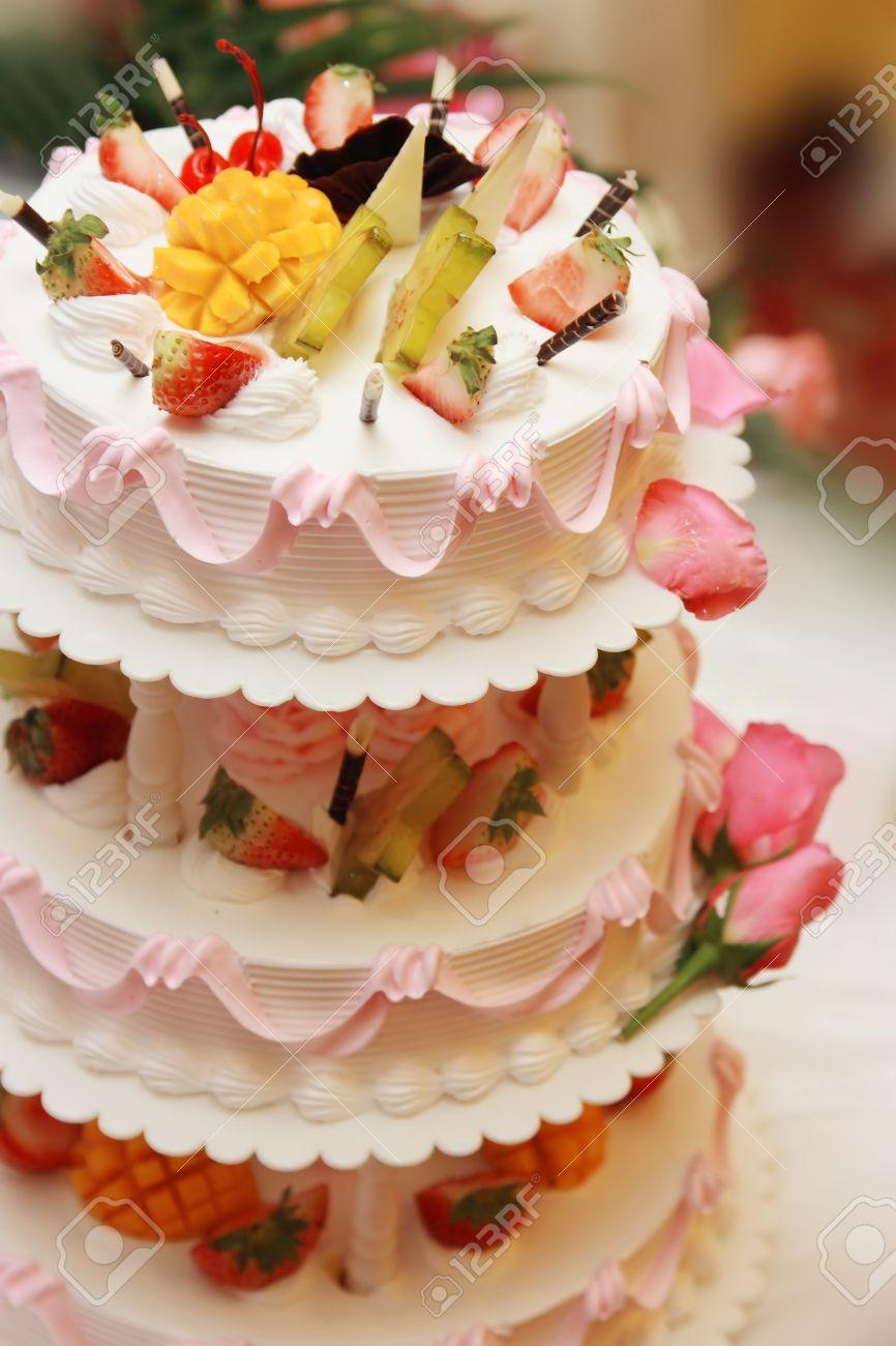 Enjoyable Birthday Celebration On Site Multi Layer Cake Photos Fruit Cake Funny Birthday Cards Online Kookostrdamsfinfo