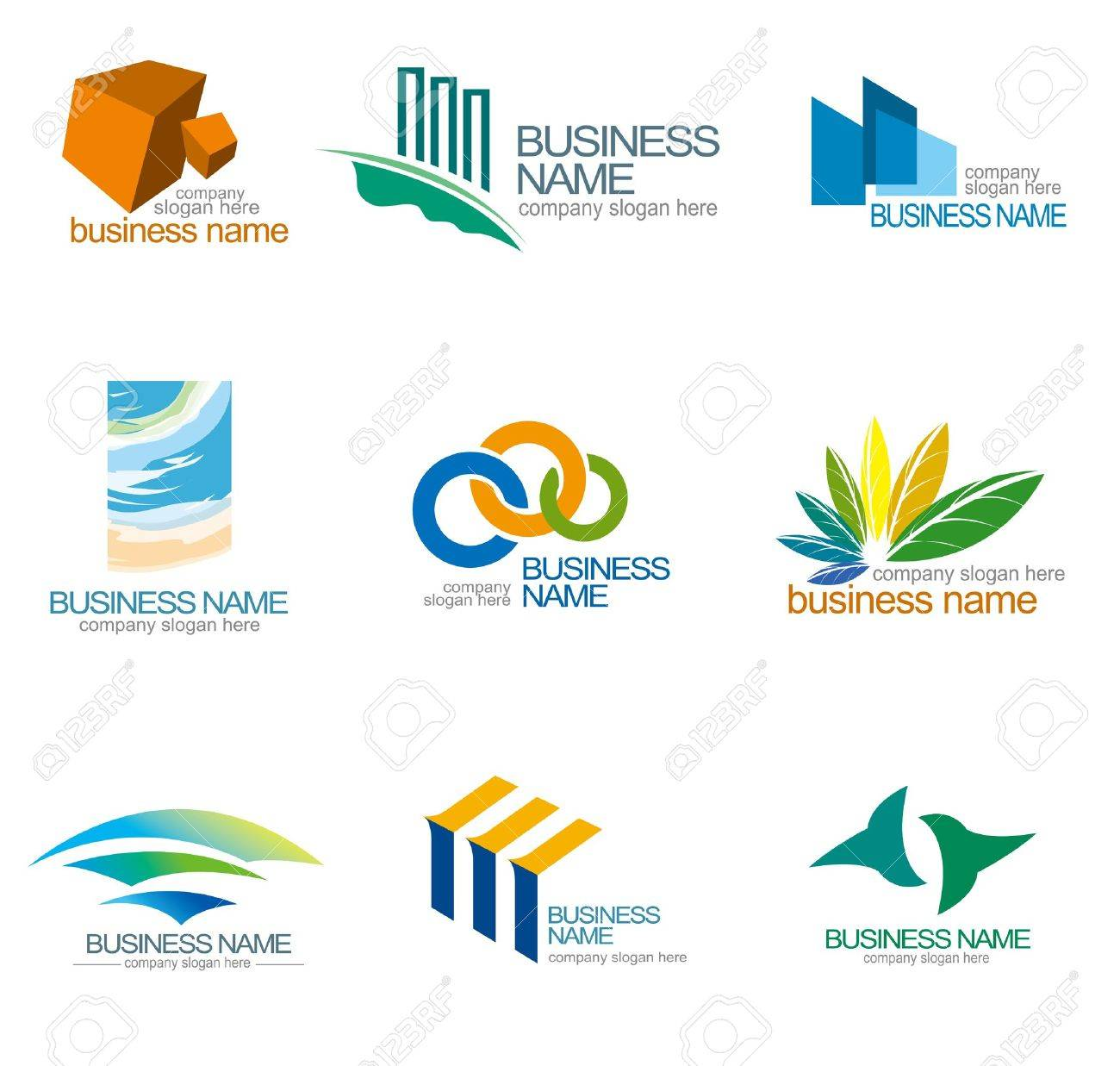 abstract design templates corporate identity design royalty free