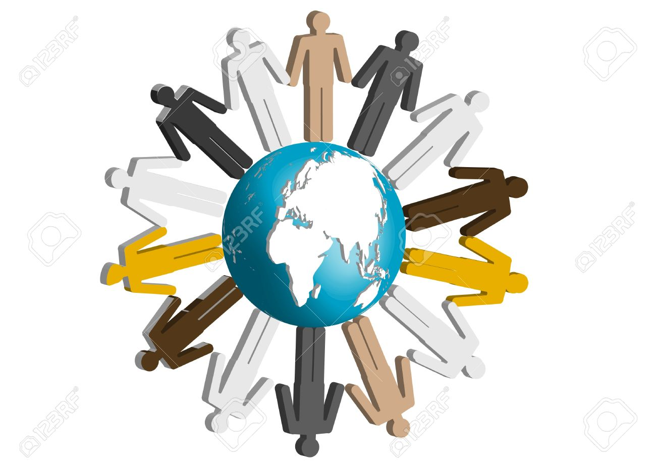 People Of The World Combined Together Hand In Hand A Symbol Royalty Free Cliparts Vectors And Stock Illustration Image 9924898