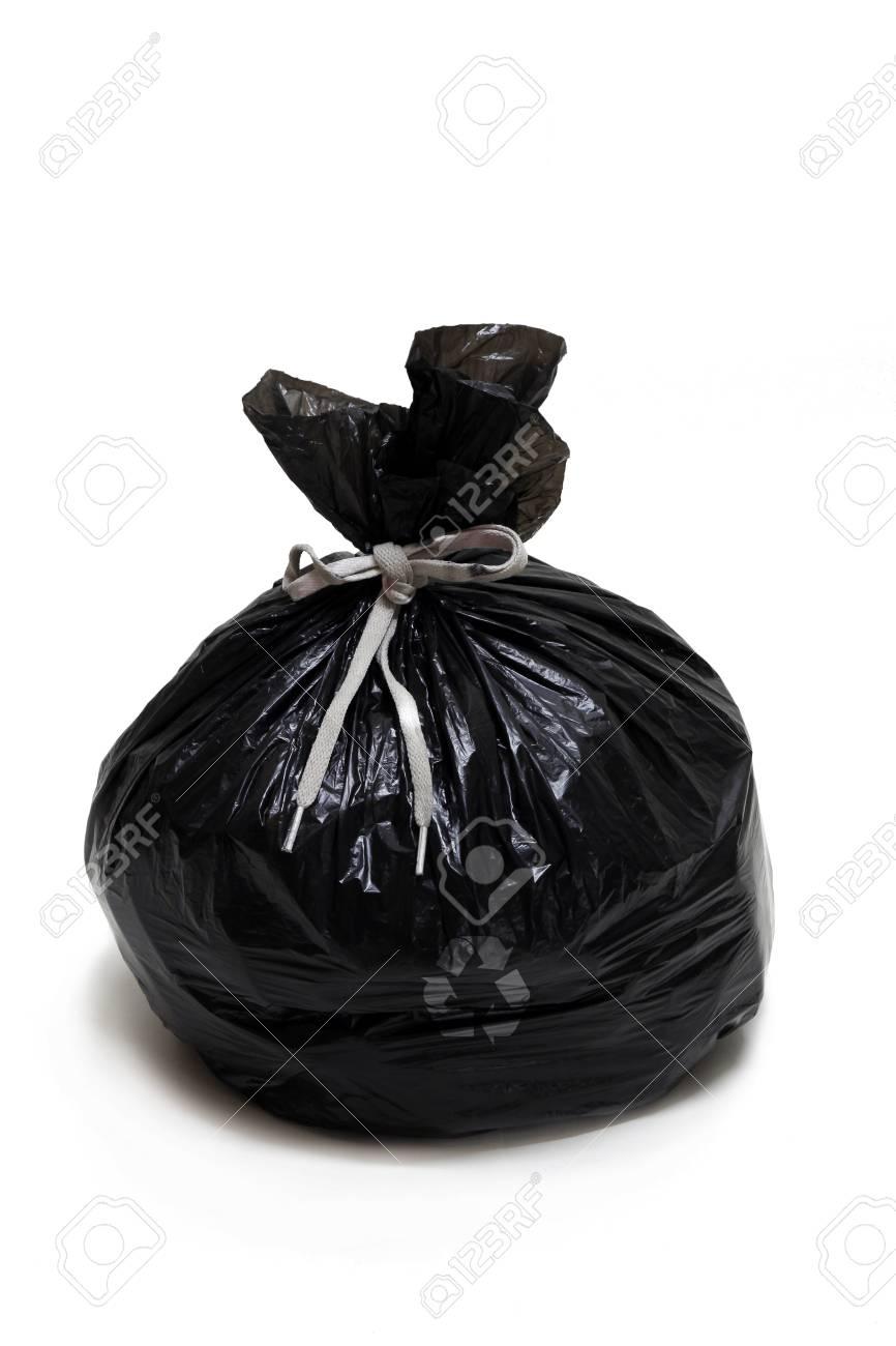 Garbage bag, isolated, roped, on white background Stock Photo - 17201346