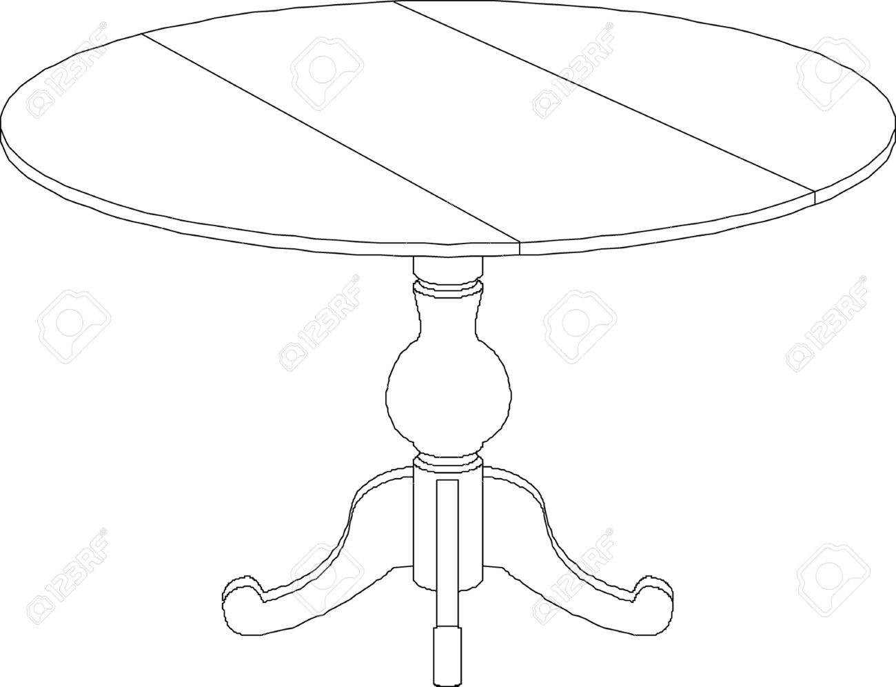 Round Table Drawing Royalty Free Cliparts Vectors And Stock