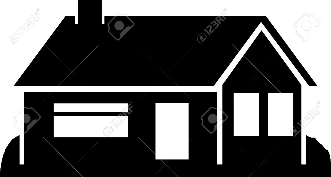 house silhouette royalty free cliparts vectors and stock rh 123rf com white house silhouette vector house silhouette vector free download