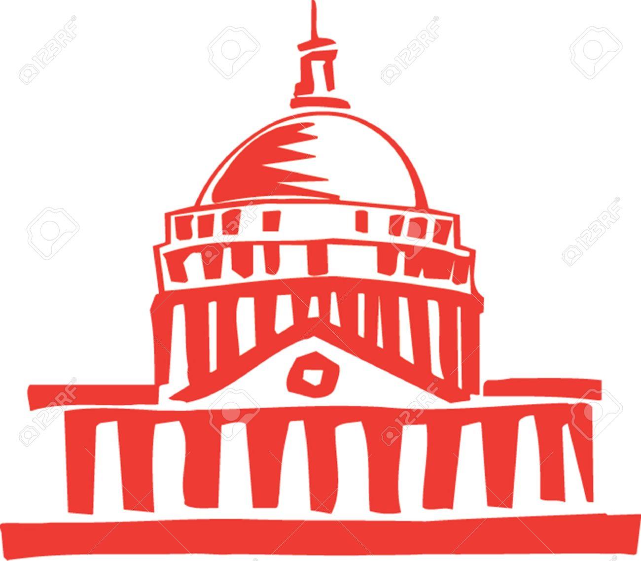 u s 議会議事堂、ワシントン d c のイラスト ロイヤリティフリー