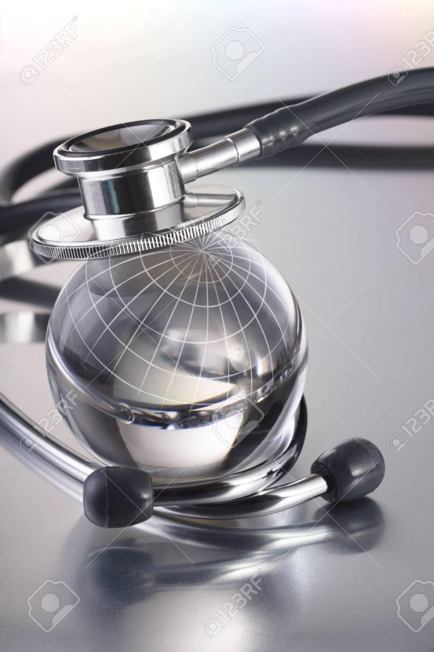 stethoscope on earth Stock Photo - 11661756