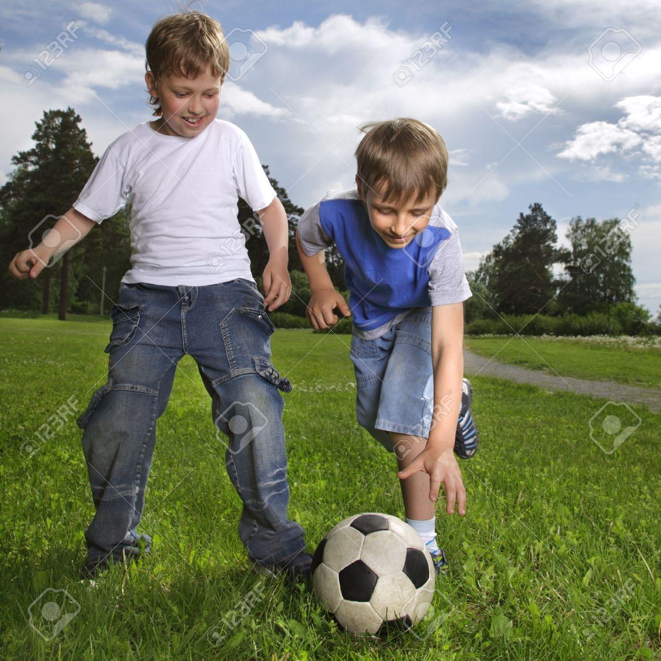 Boys play