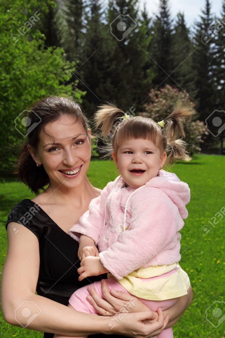 happy family outdoors Stock Photo - 17563421