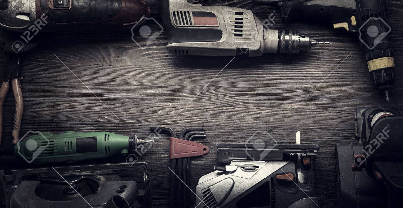 Electric hand tools (screwdriver Drill Saw jigsaw jointer) photo processing: instagram - 48636525