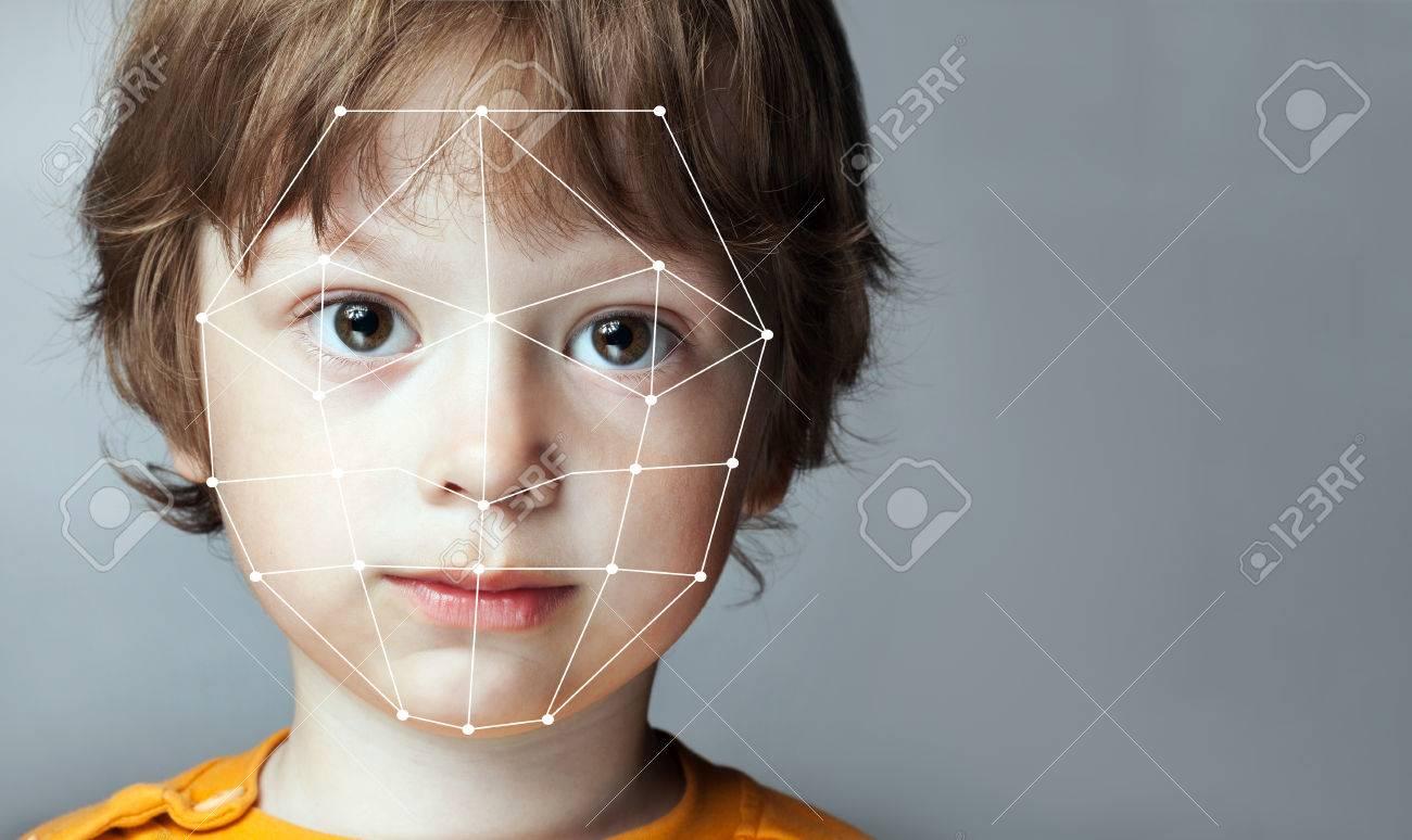 Biometric Verification - Boy Face Detection, high technology - 75563234