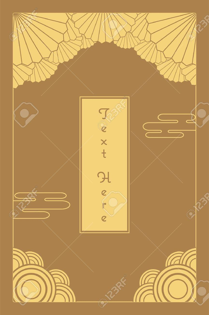 Vintage elegant golden japanese and chinese invitation card template vector vintage elegant golden japanese and chinese invitation card template stopboris Gallery