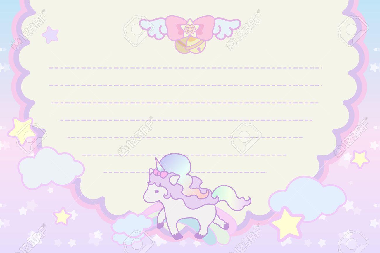 Cute pastel magical lovely unicorn rainbow cloud letter template cute pastel magical lovely unicorn rainbow cloud letter template stock vector 43136531 spiritdancerdesigns Gallery