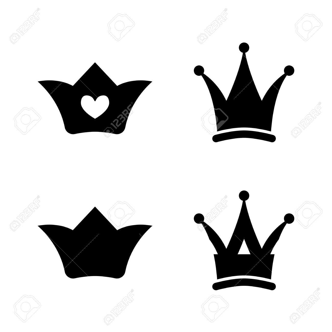 crown icons princess crown vector illustration silhouettes rh 123rf com free vector crown illustration free vector crown silhouette