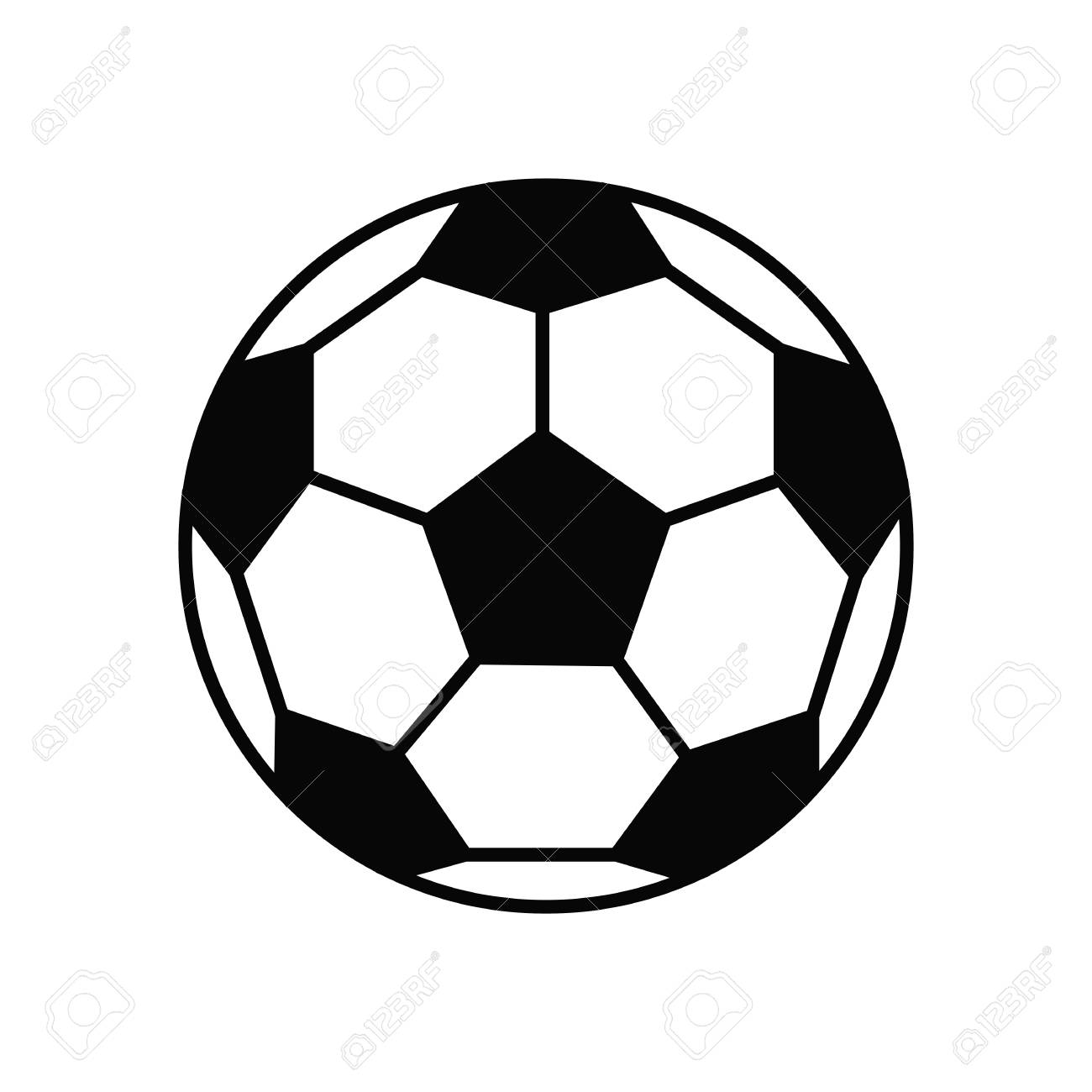 soccer ball football vector icon flat illustration royalty free rh 123rf com football vector free download football vector free download
