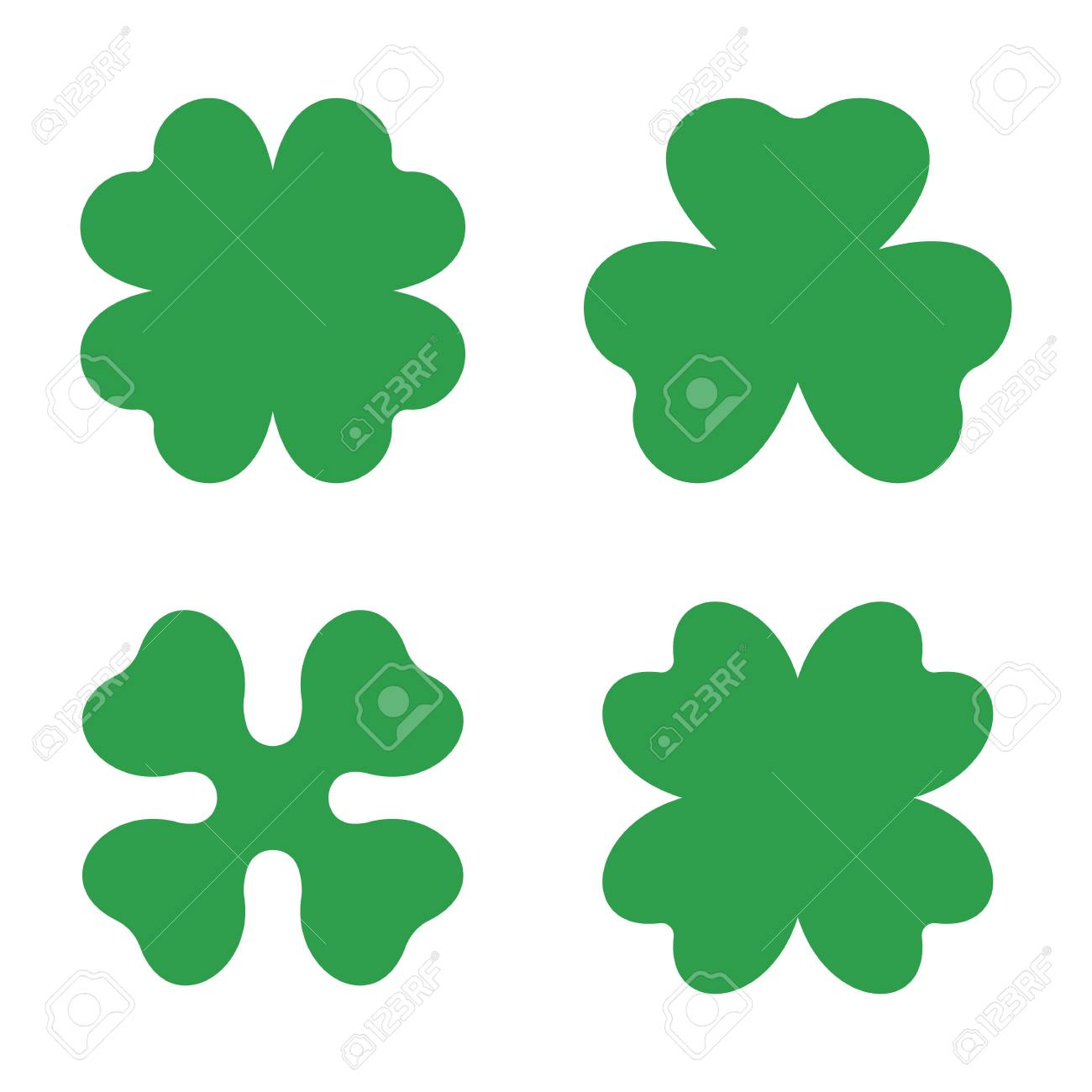 set of three and four leaf clovers vector icon a symbol of rh 123rf com four leaf clover vector image four-leaf clover vector free download