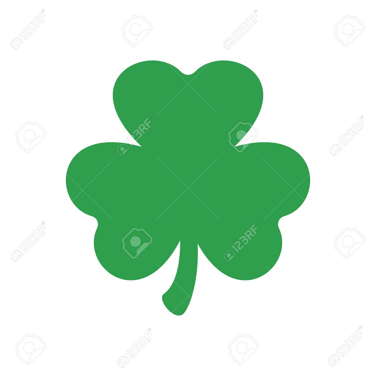 Three Leaf Clover Vector Icon St Patricks Day Clover Silhouette