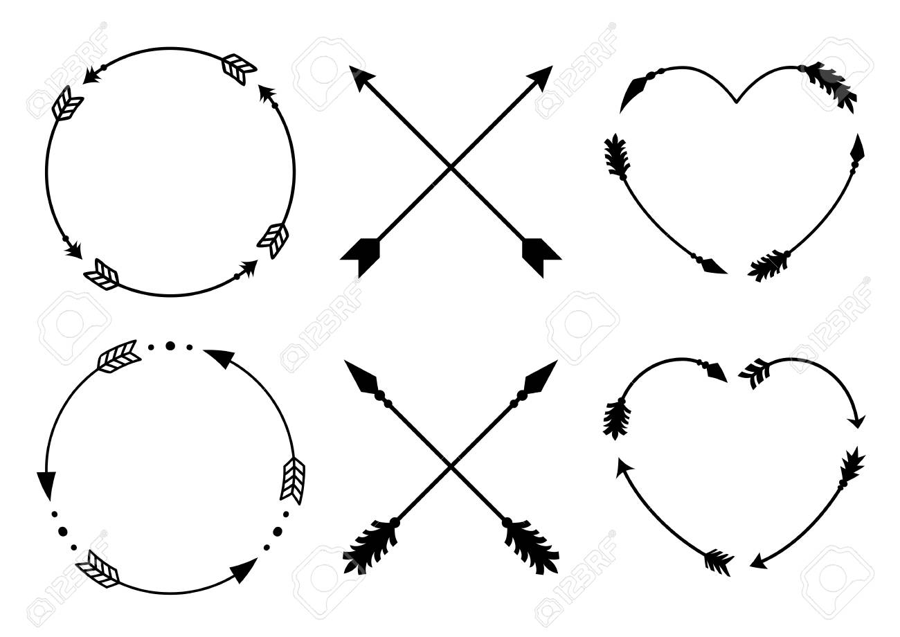 circle and heart arrow frames for monograms crisscross hipster