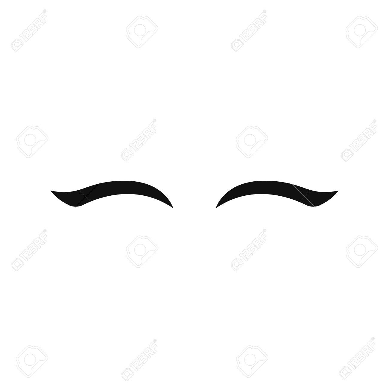 vector unicorn eyelashes closed eyes vector icon cute design