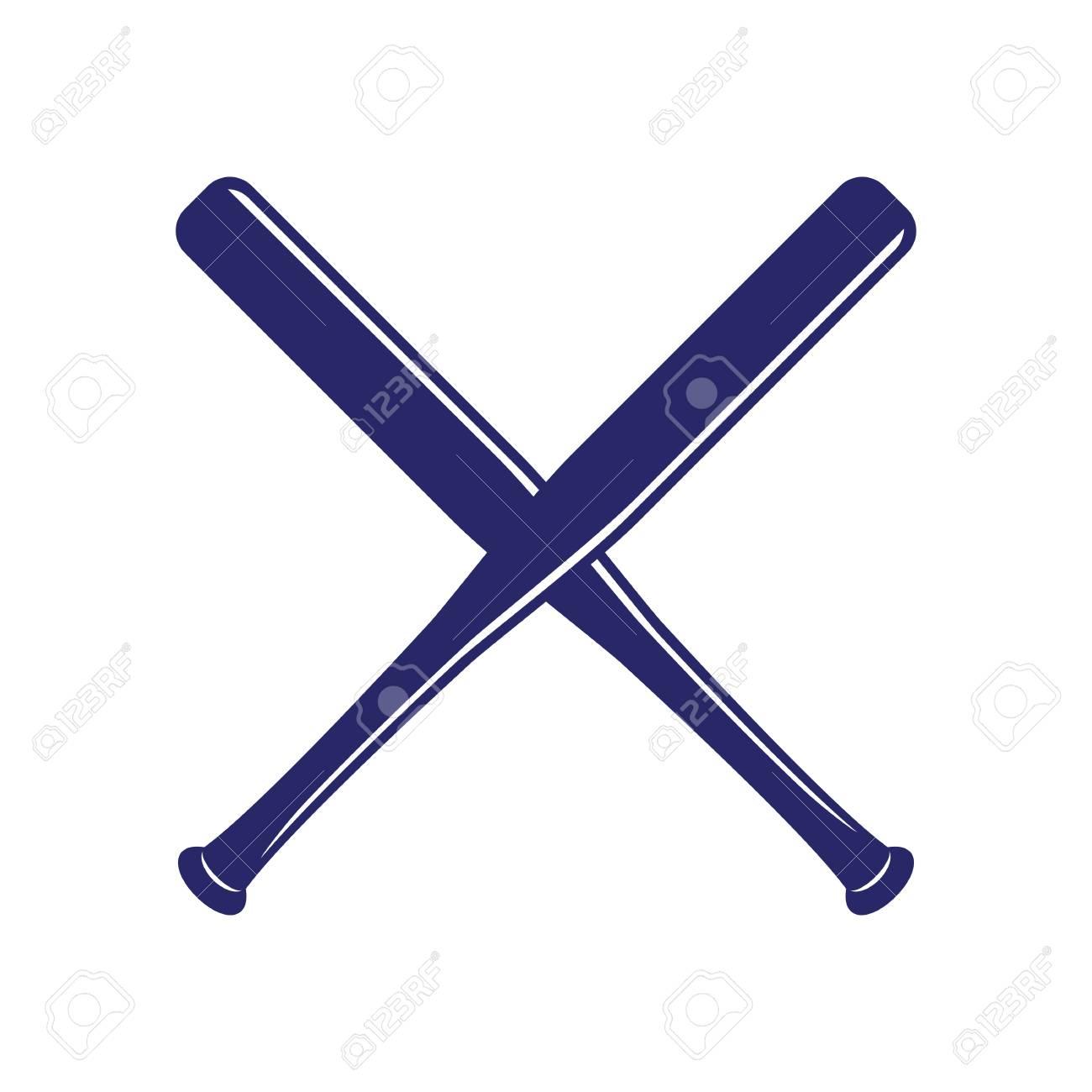 baseball crossed bats criss cross bats baseball flat vector rh 123rf com Crossed Bats with Flames Clip Art Crossed Bats SVG