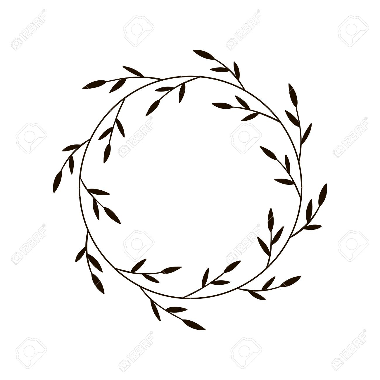 Christmas Joy Wreath Hand Drawn Vector Round Frame For Invitations Royalty Free Cliparts Vectors And Stock Illustration Image 127435381