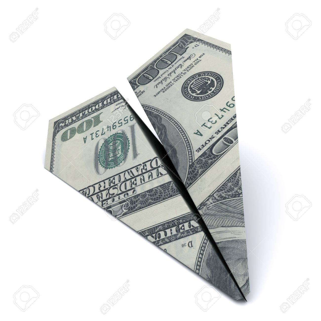 paper airplane from the dollar Stock Photo - 10299704
