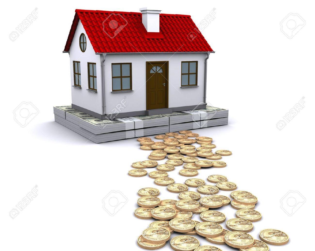Geld - Ein Stabiles Fundament Für Zuhause Lizenzfreie Fotos, Bilder ...