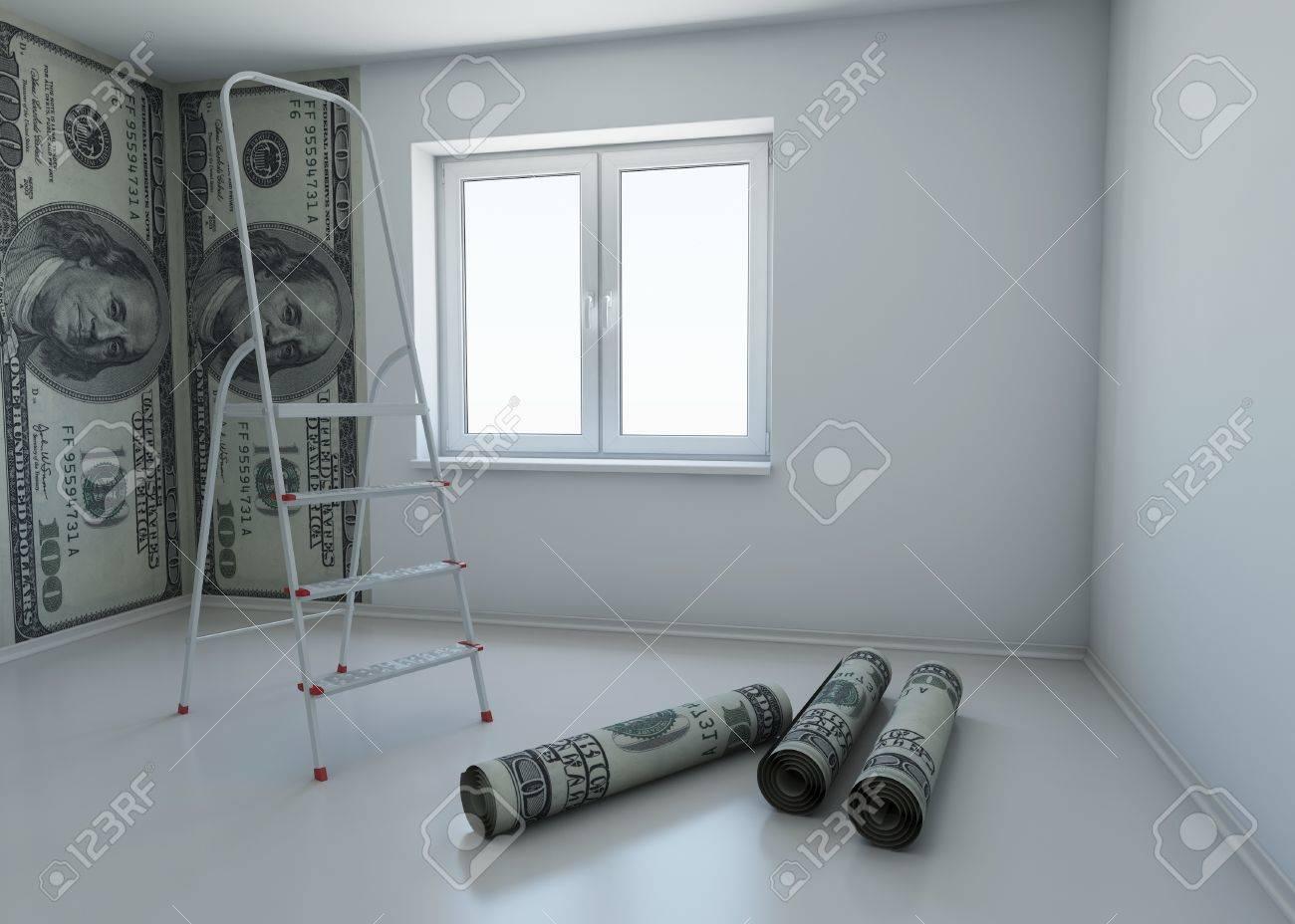 Papier Peint A Motifs Dollar Comme Un Symbole De L Argent Pour Les Reparations Rendu 3d Banque D Images Et Photos Libres De Droits Image 10337497