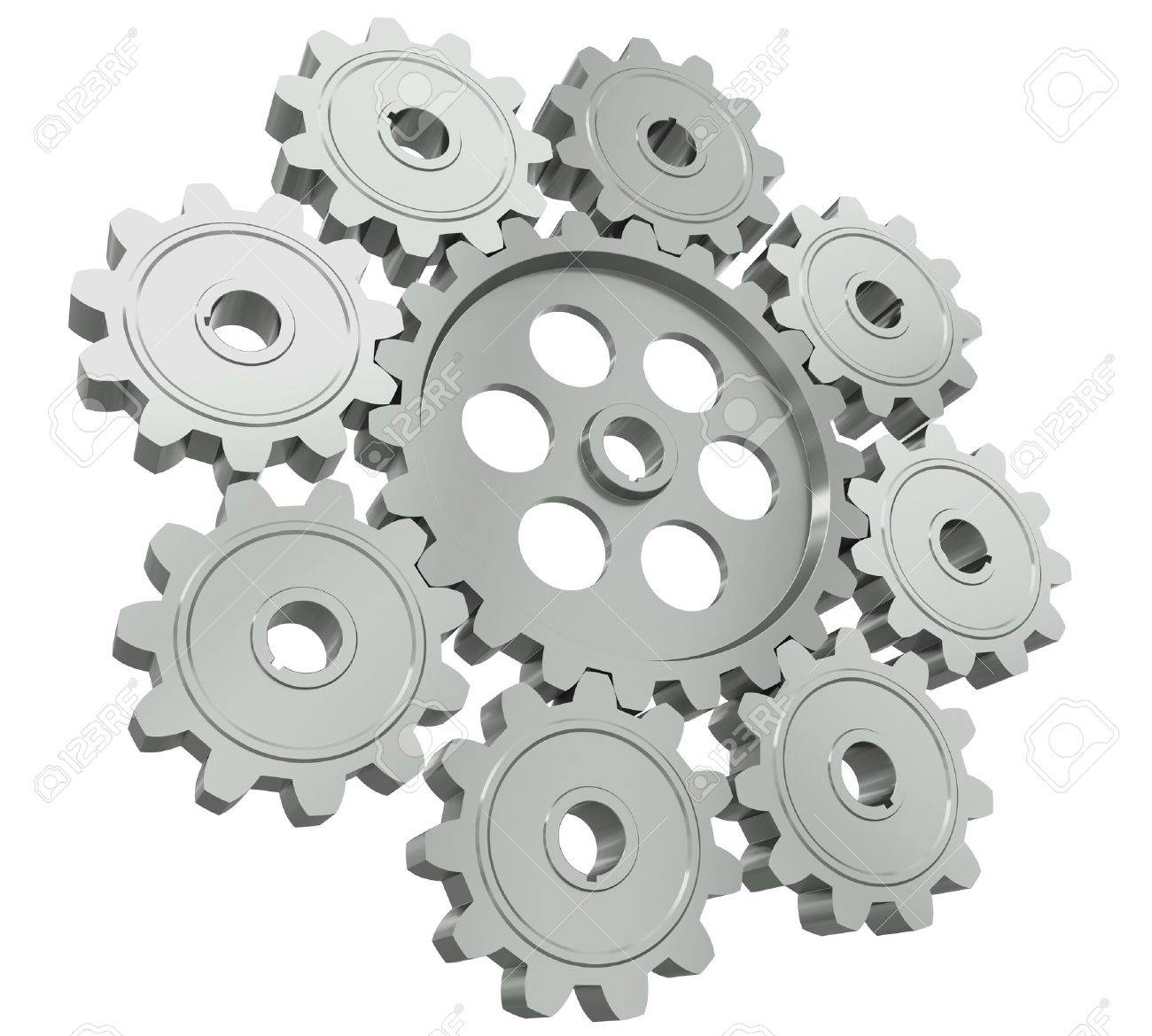 The group of metal gears - a symbol of teamwork Stock Photo - 10355260