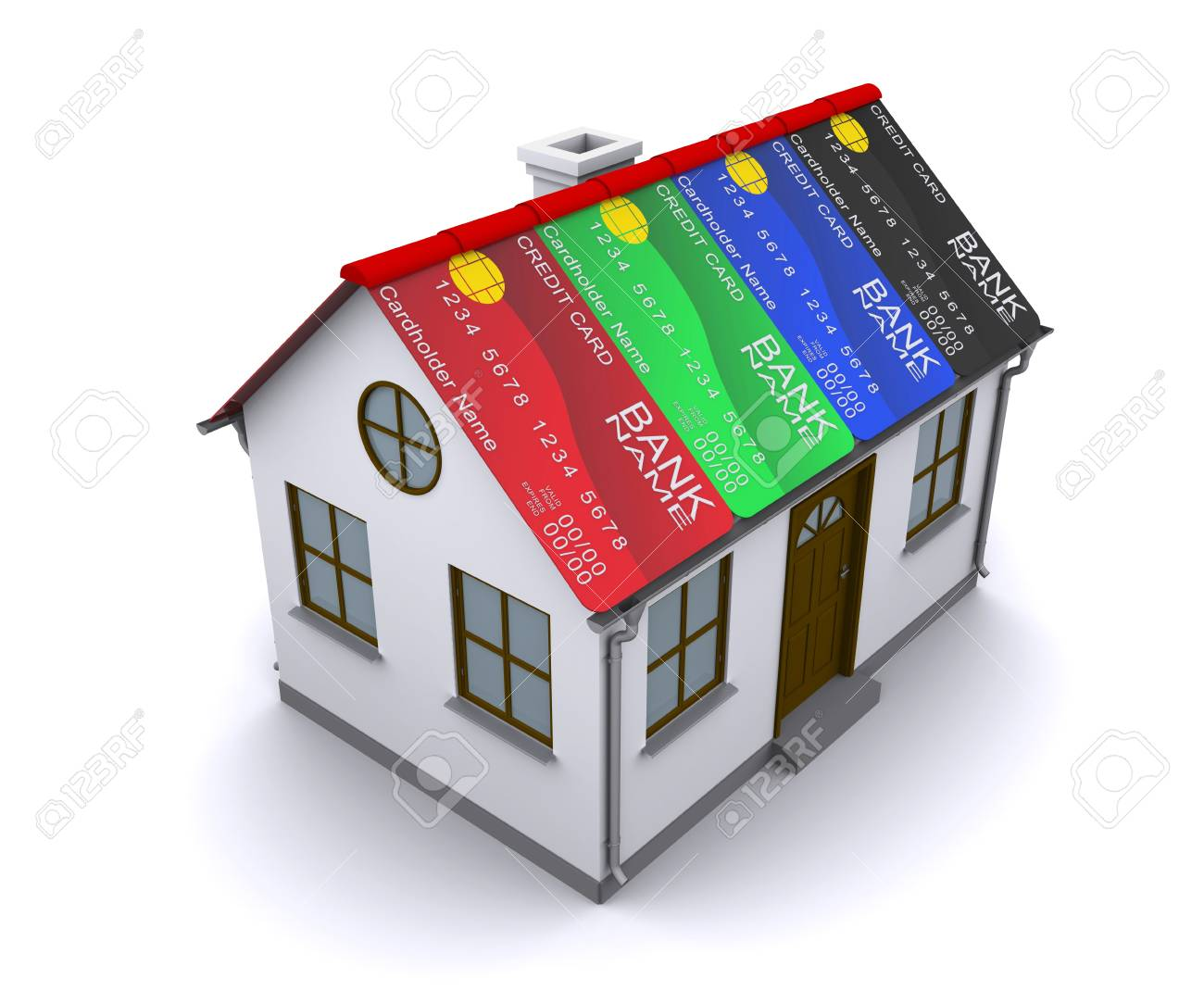 Credit Card Protection for your home Stock Photo - 10355242