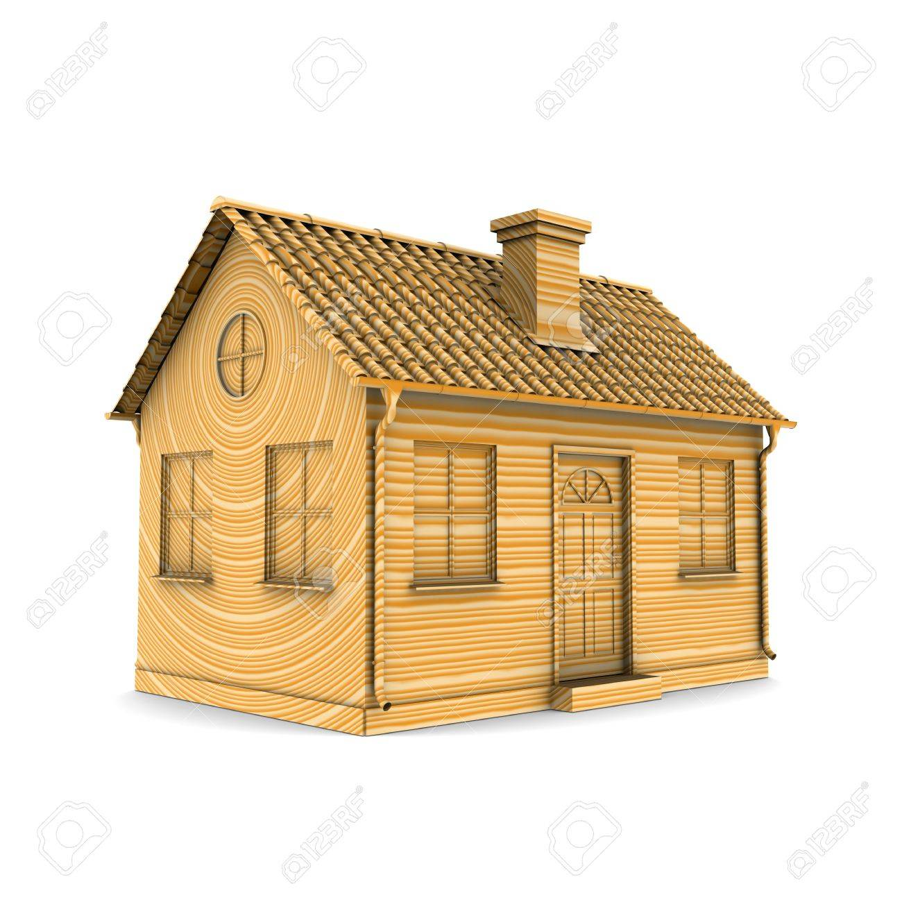House of Wood. 3d rendering Stock Photo - 12362642