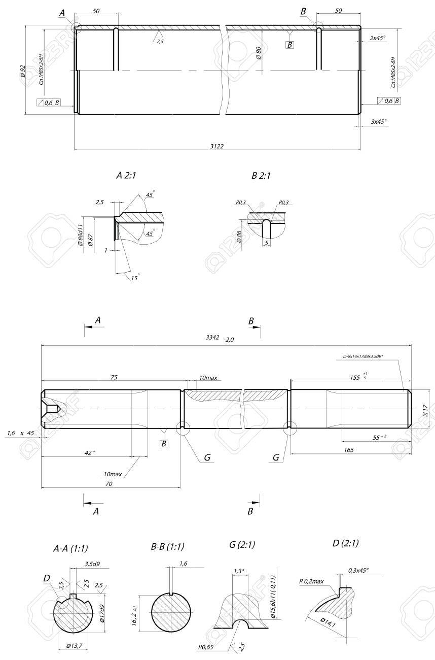 Sketch. Rod displacement pump Stock Vector - 15355767