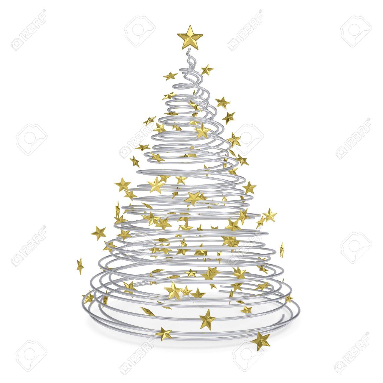 Weihnachtsbaum Metall Spirale.Stock Photo