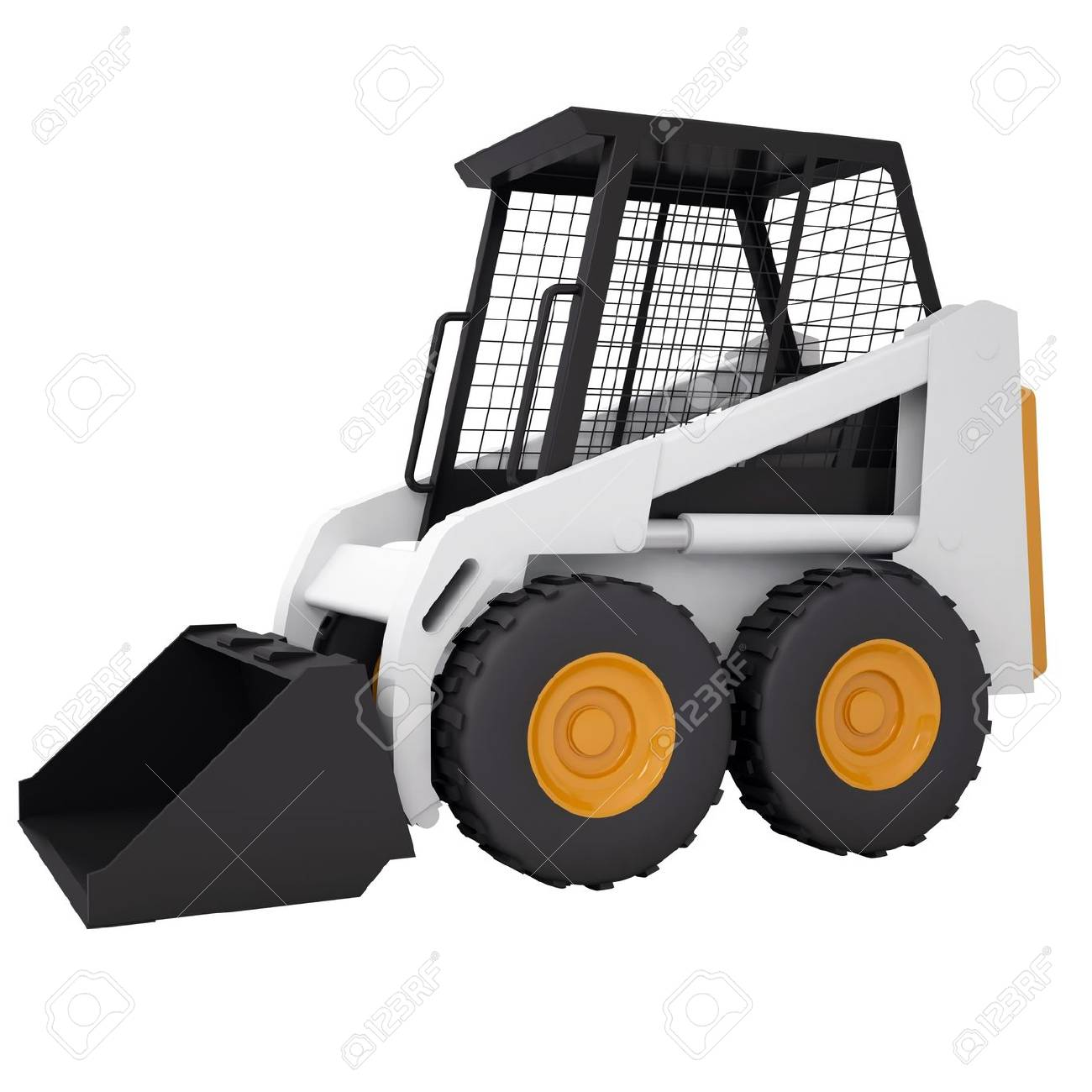 Small tractor  Isolated render on a white background Stock Photo - 18594370