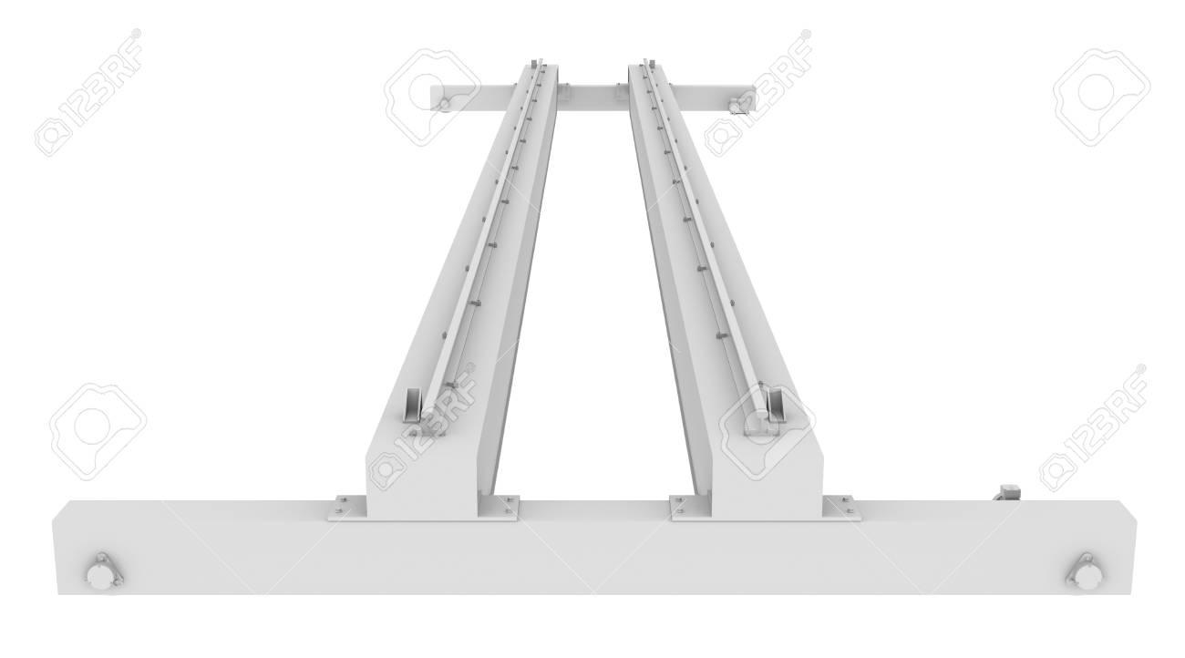 Overhead crane  Isolated render on white background Stock Photo - 21377102