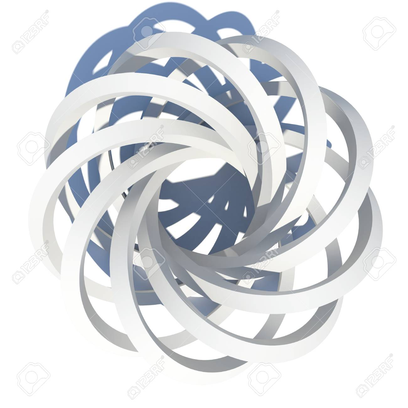 Abstract architecture  Isolated render on the white background Stock Photo - 21442005