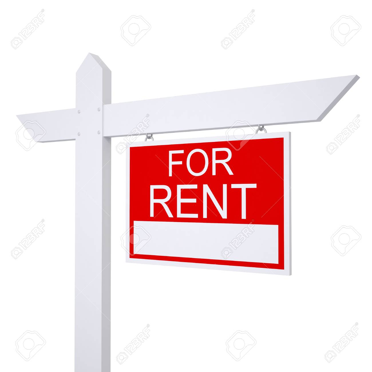 Real estate for rent sign  Isolated render on white background Stock Photo - 21484744