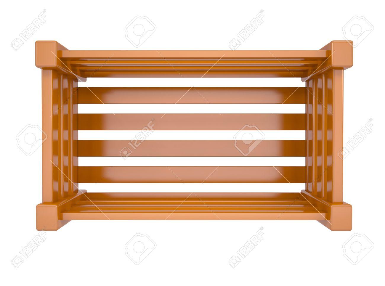 caja de madera para frutas y verduras aislados hacen en un fondo blanco foto de archivo