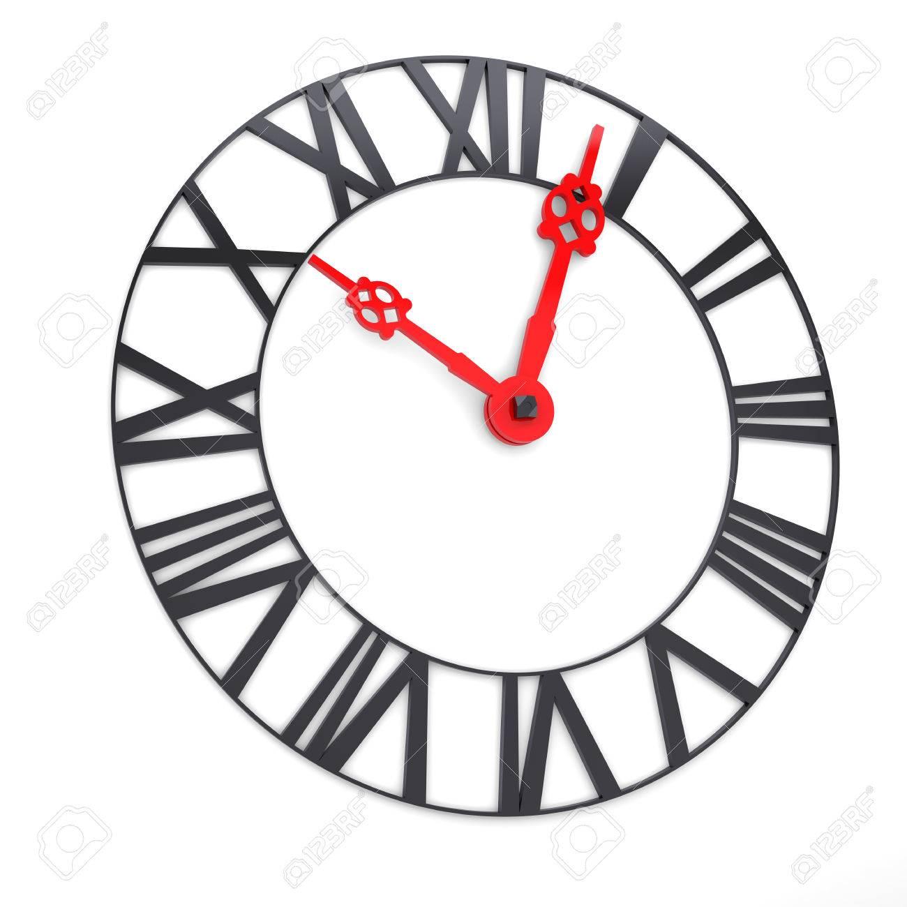 時計の文字盤のローマ数字と時間の概念