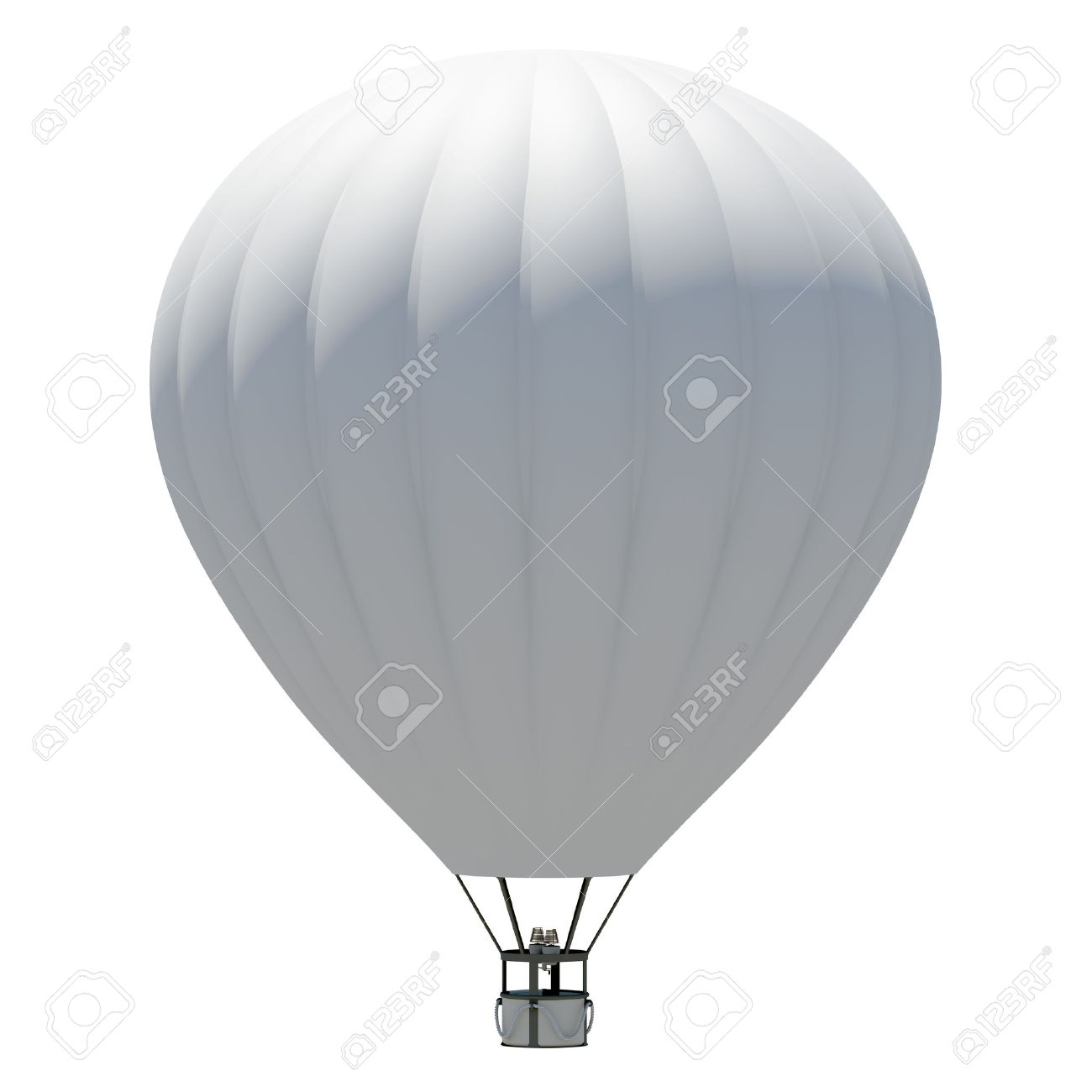 Hot Air Balloon Isolated On The White Background Stock Photo ...