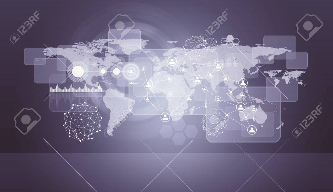 Violet holographic screen with world map virtual background stock stock photo violet holographic screen with world map virtual background gumiabroncs Choice Image