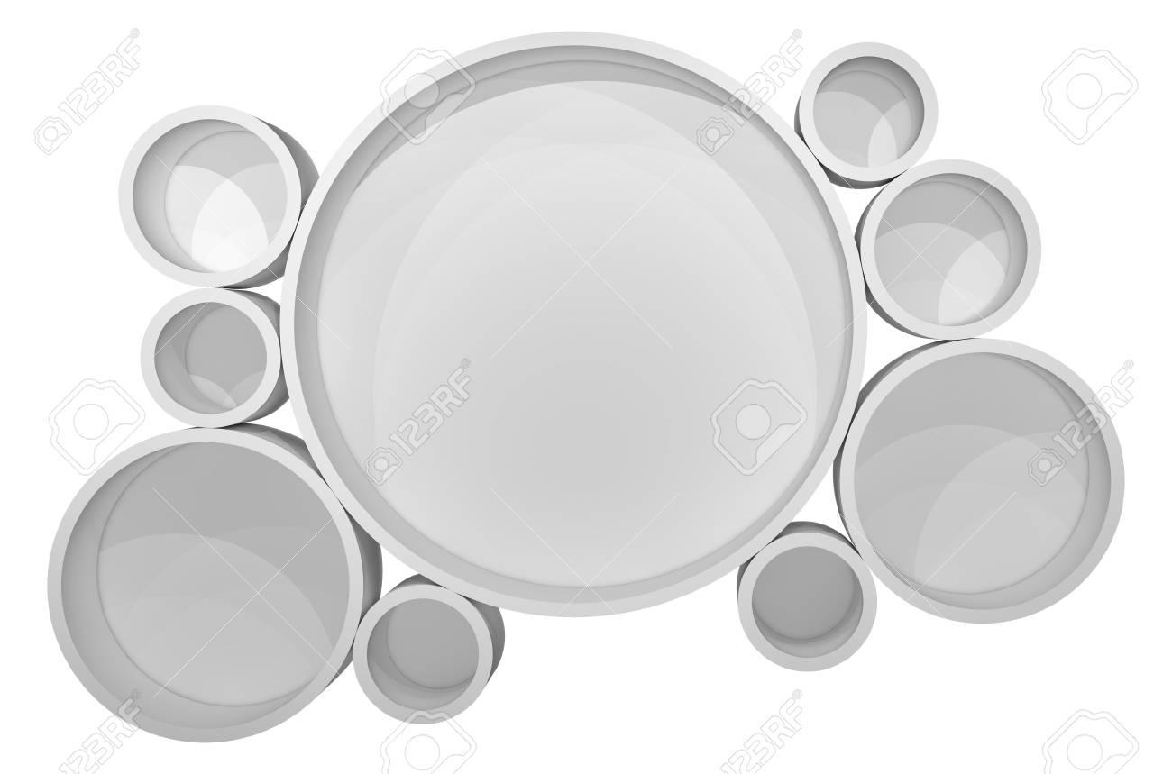 Einzigartig Weißes Regal Das Beste Von Standard-bild - Weißes Des Belichteten Kreises Für