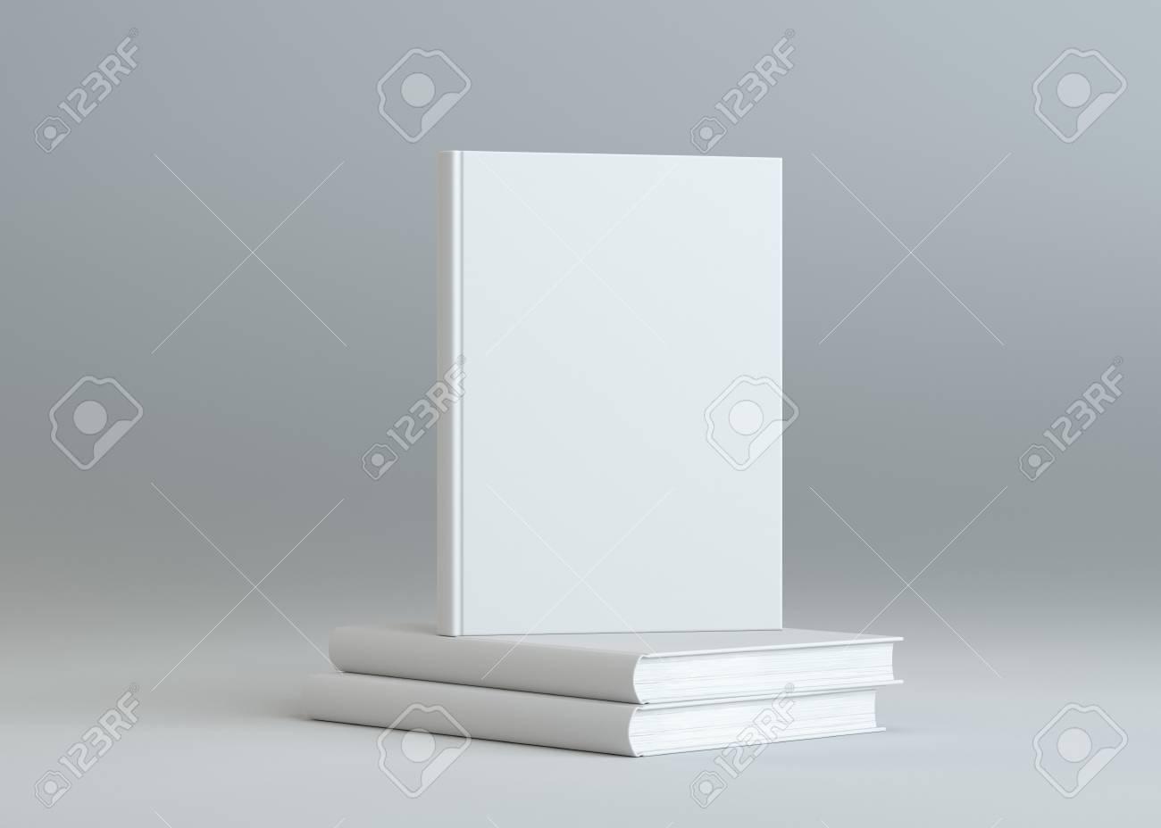 Blank Bücher Vorlage Auf Grauem Hintergrund Lizenzfreie Fotos ...