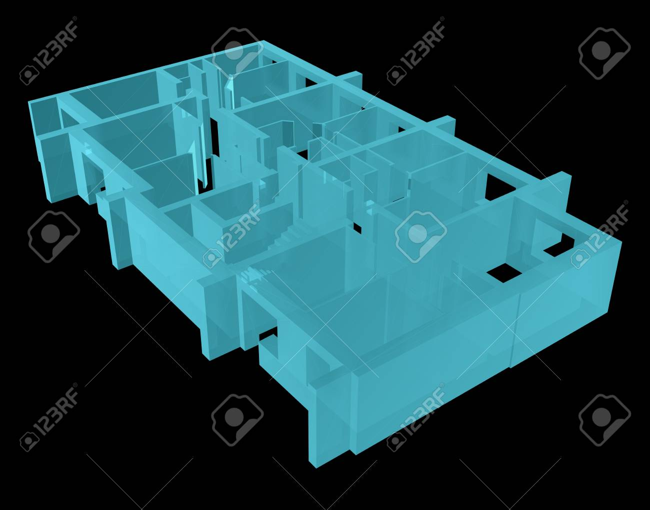 X Ray Model Floor Of Apartment Block Stock Photo Picture And Diagram