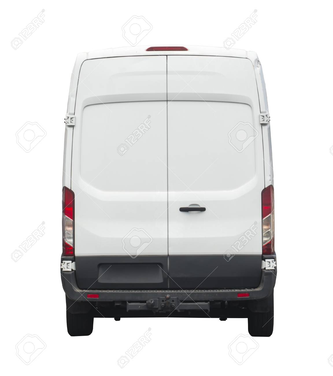 255fd351a5 Rear of white van for your branding Stock Photo - 90997936