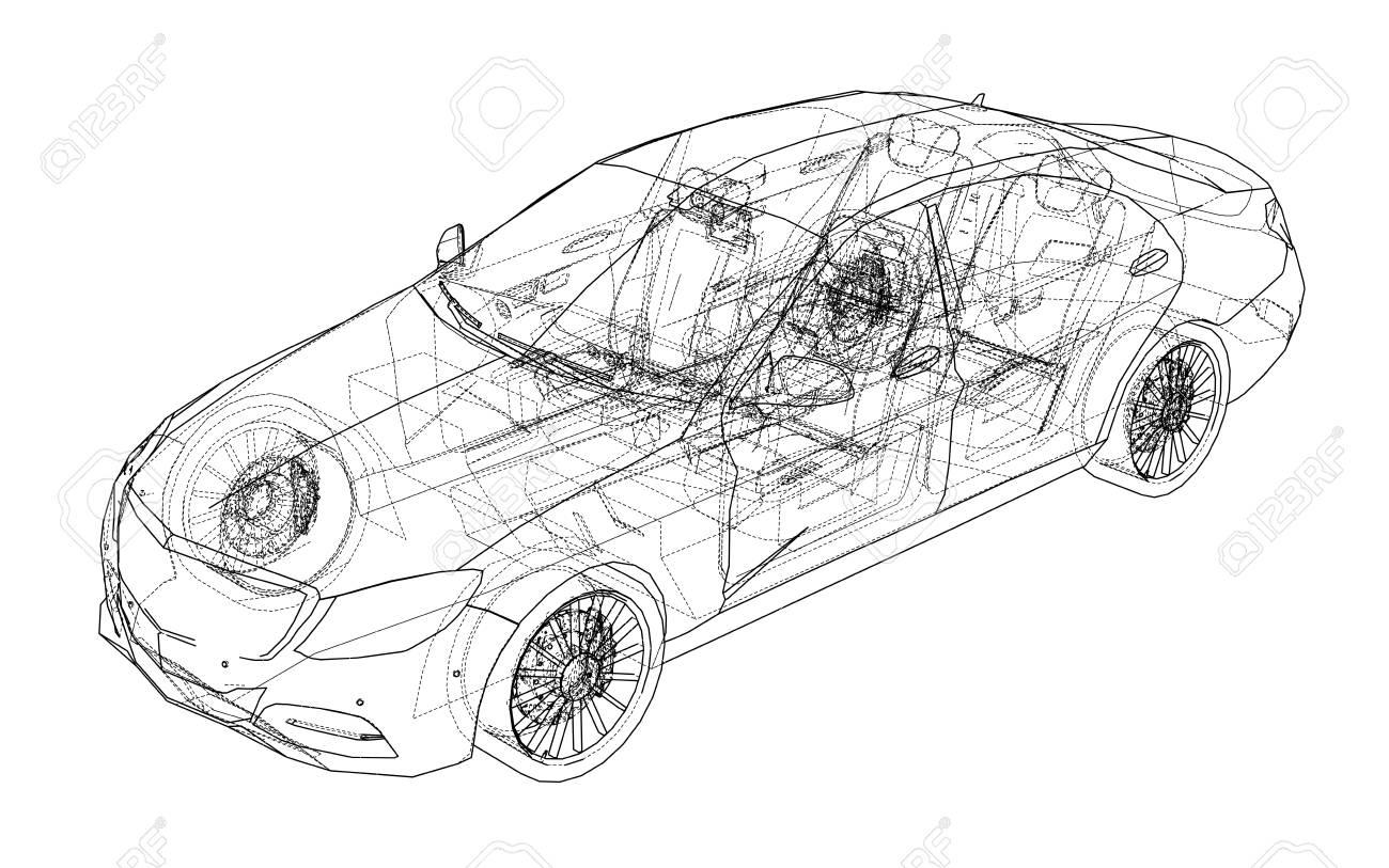 Concept car. Vector - 92874683