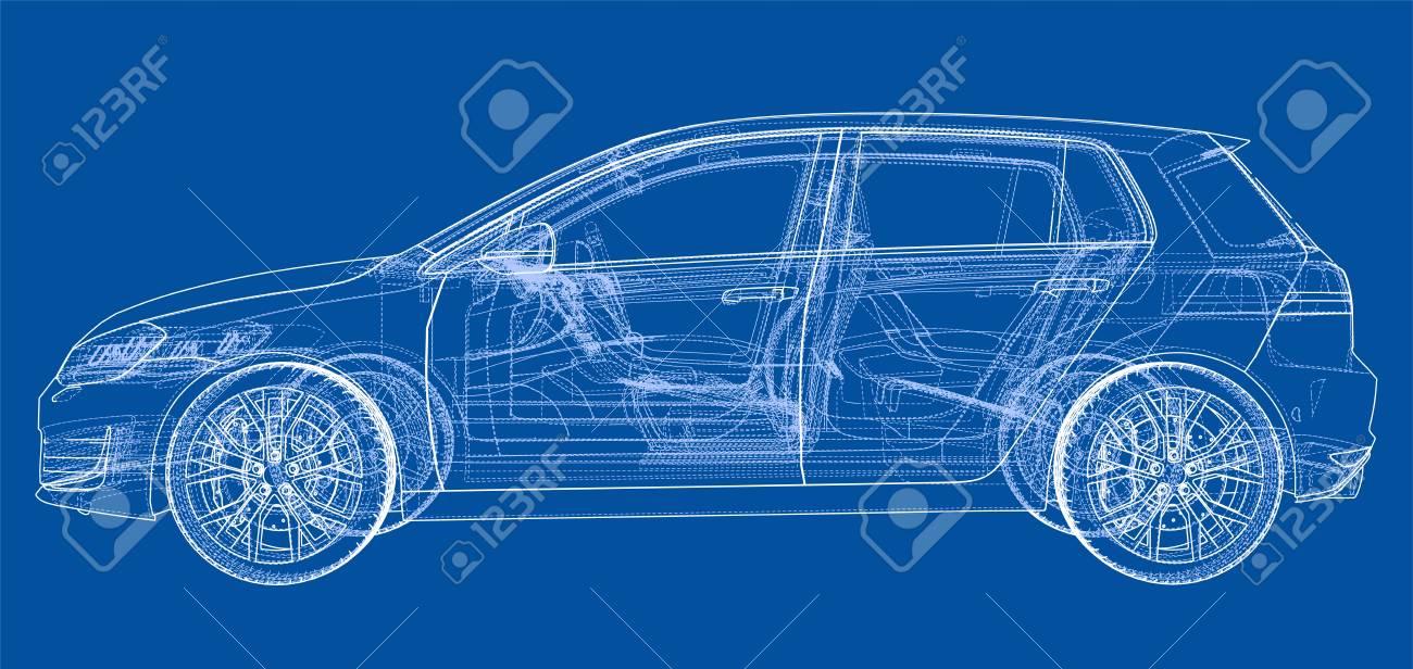 Car 3d blueprint illustration royalty free cliparts vectors and car 3d blueprint illustration stock vector 97684532 malvernweather Choice Image