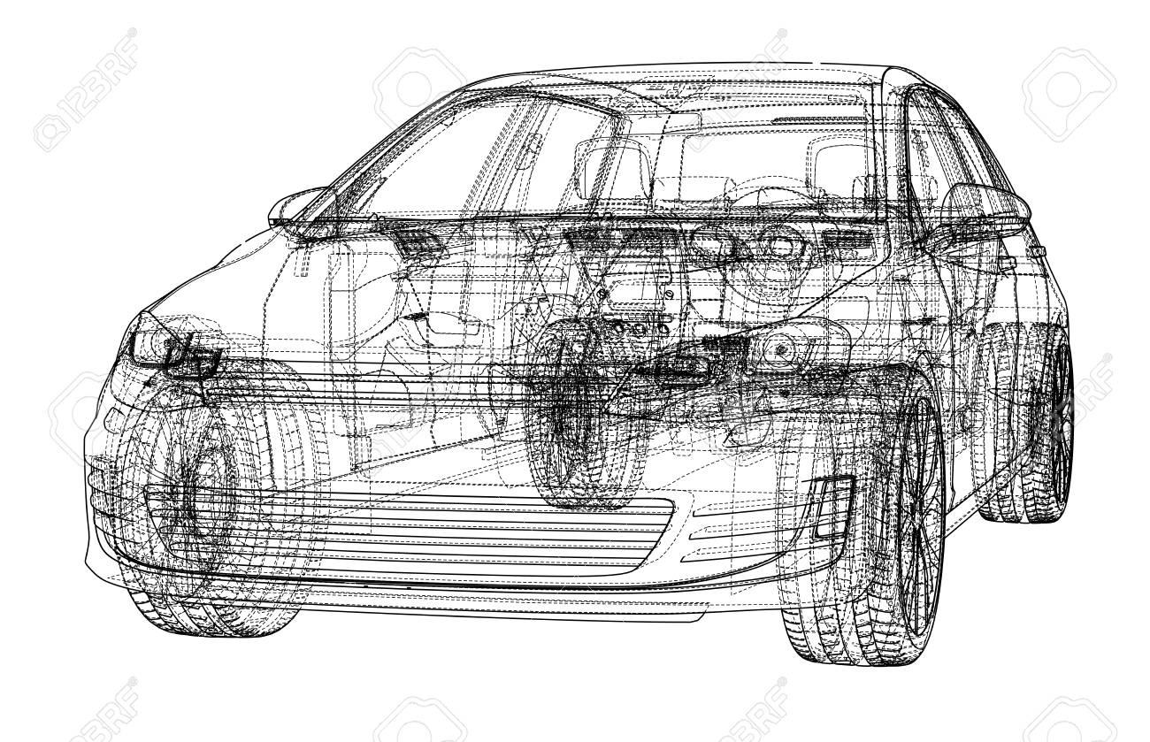 Car 3D Print Illustration. Royalty Free Cliparts, Vectors, And Stock ...