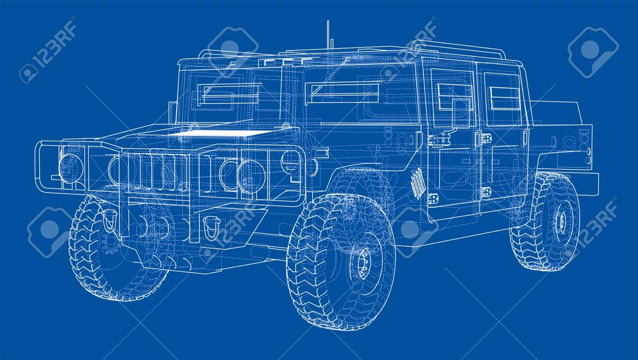 Combat Car Blueprint Stock Photo, Picture And Royalty Free Image ...