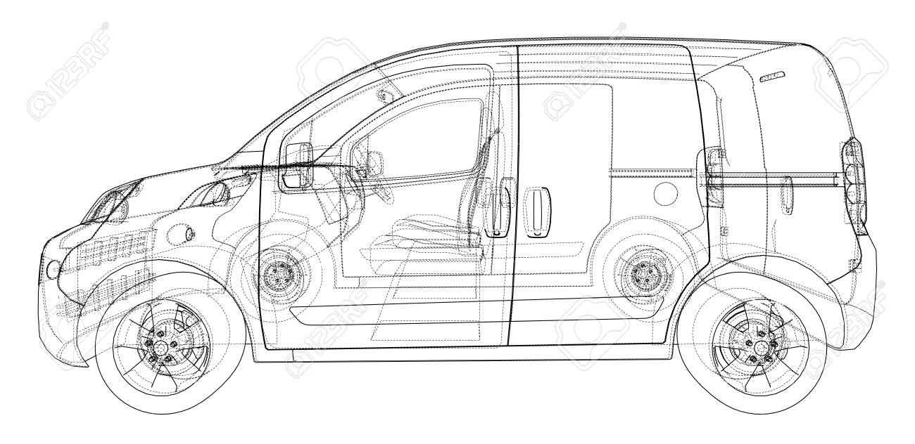 Concept Car Blueprint Stock Photo, Picture And Royalty Free Image ...